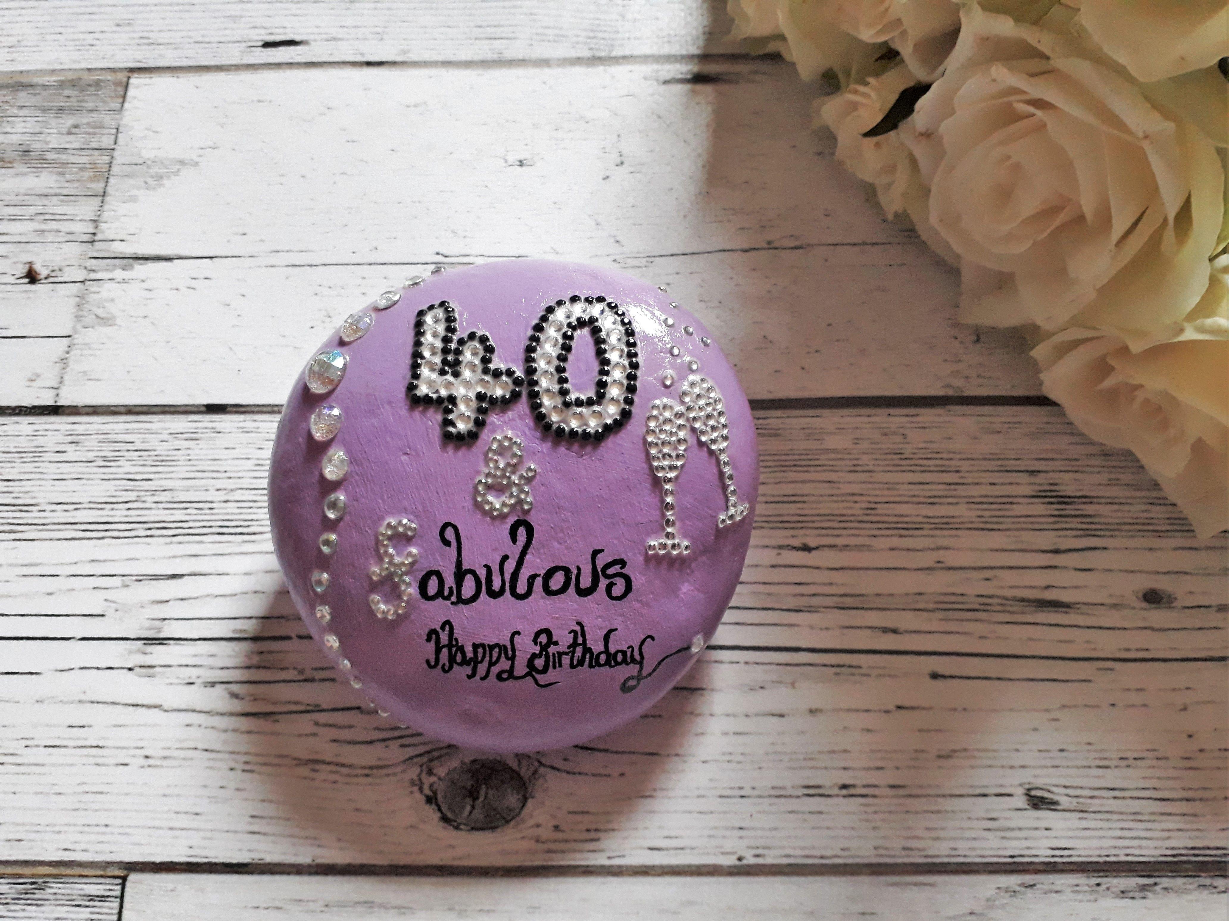 50 fabulous birthday pebble 50 birthday gift for her