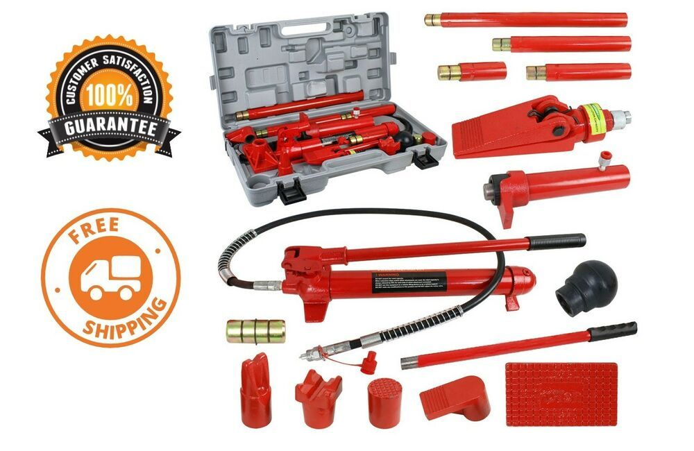 Ebay Advertisement 10 Ton Portable Power Hydraulic Jack Body Frame Repair Kit Auto Shop Tool Lift Car Shop Vehicle Warranty Kit Cars