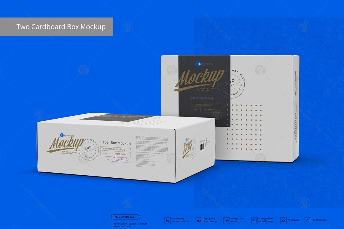Download Two Cardboard Box Mockup Present Your Design On This Mockup Includes Special Layers And Smart Objects For Box Mockup Business Card Mock Up Design Mockup Free
