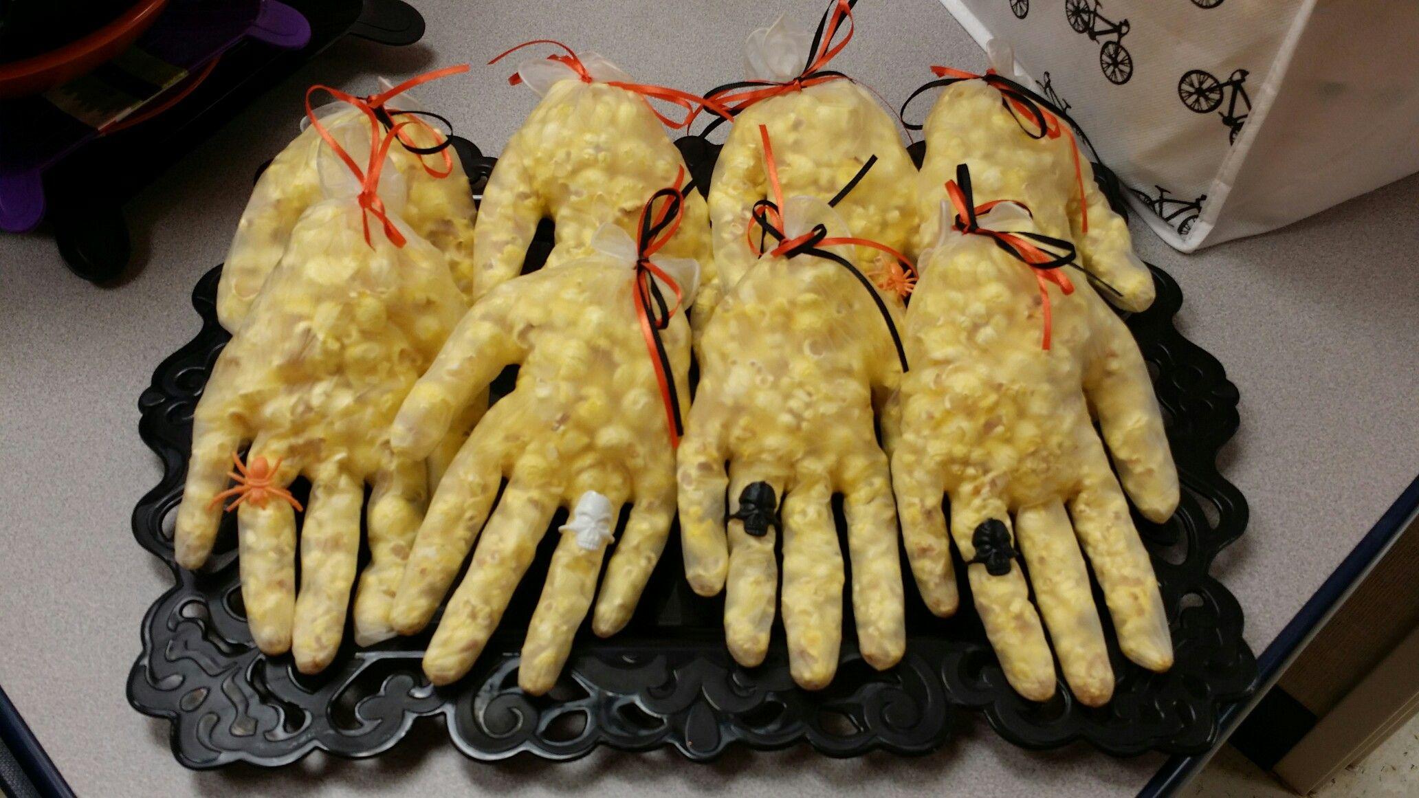 Popcorn hands halloween