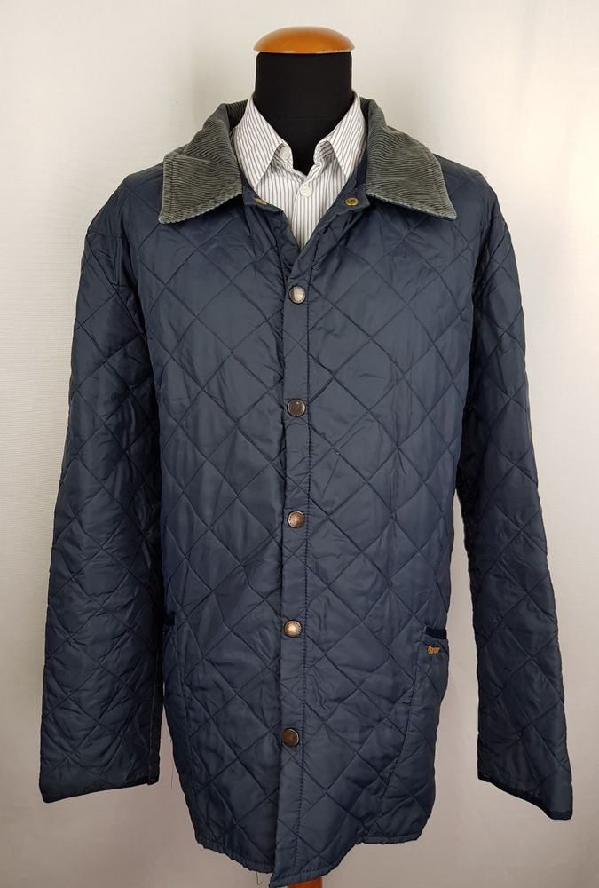 Mens Barbour Liddesdale Quilted Jacket Size 3xl Xxxl Blue