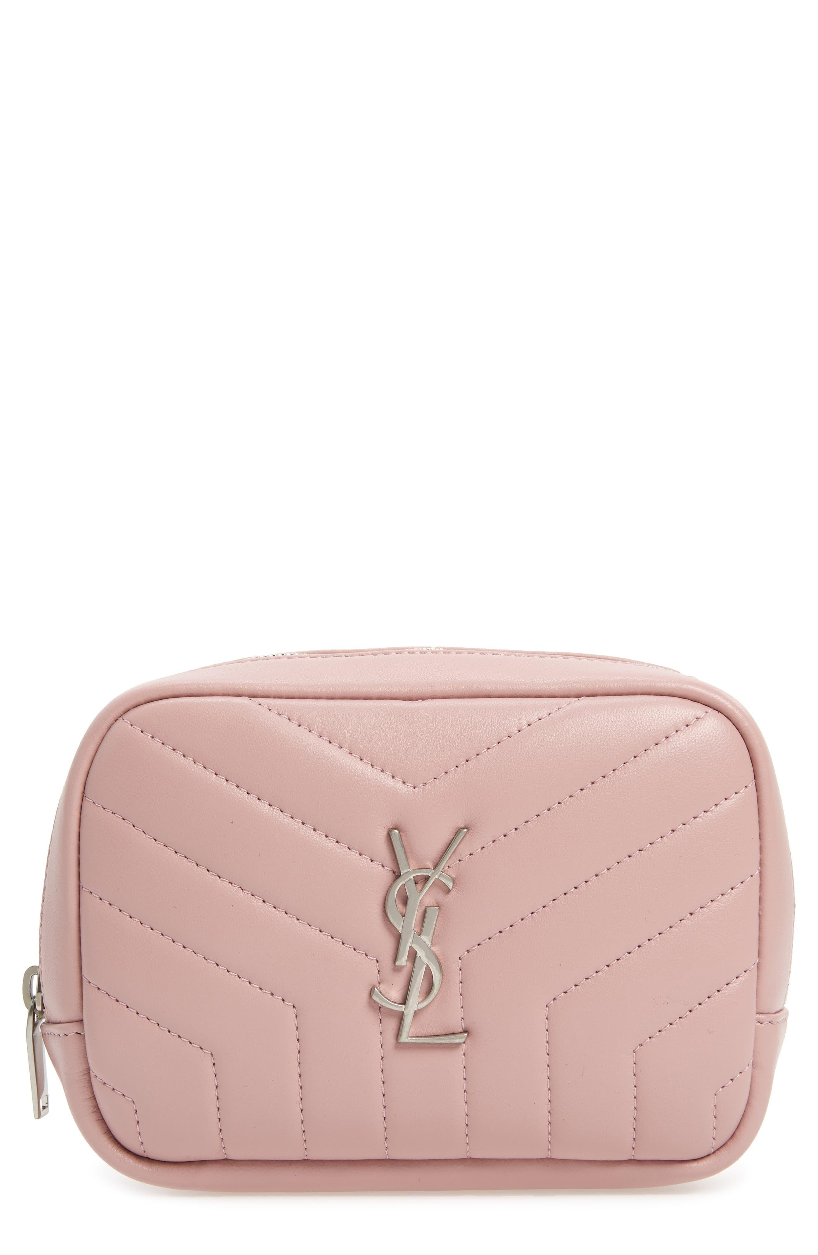 bb9fd472403 Saint Laurent Loulou Matelassé Leather Cosmetics Bag, Size One Size -  Tender Pink