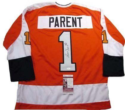 Bernie Parent Autographed Signed Flyers Jersey .  219.99. Bernie Parent  Custom Flyers Signed Jersey size 4fbaeb905