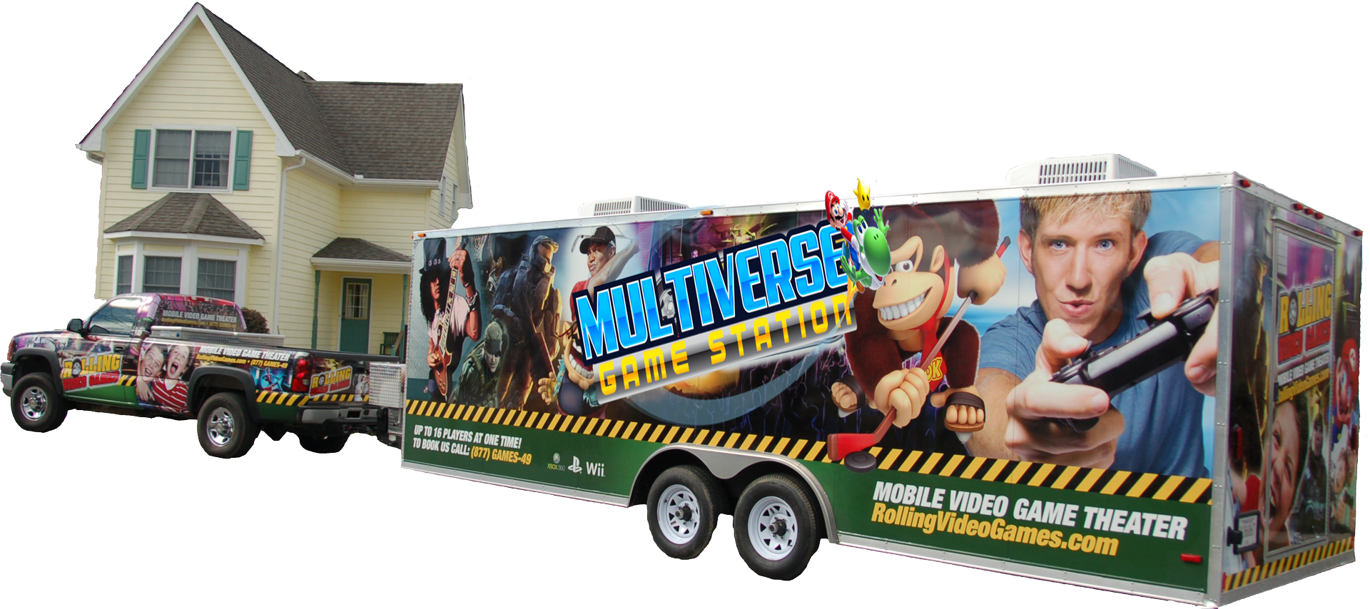 game truck Multiverse Game Station Game truck party