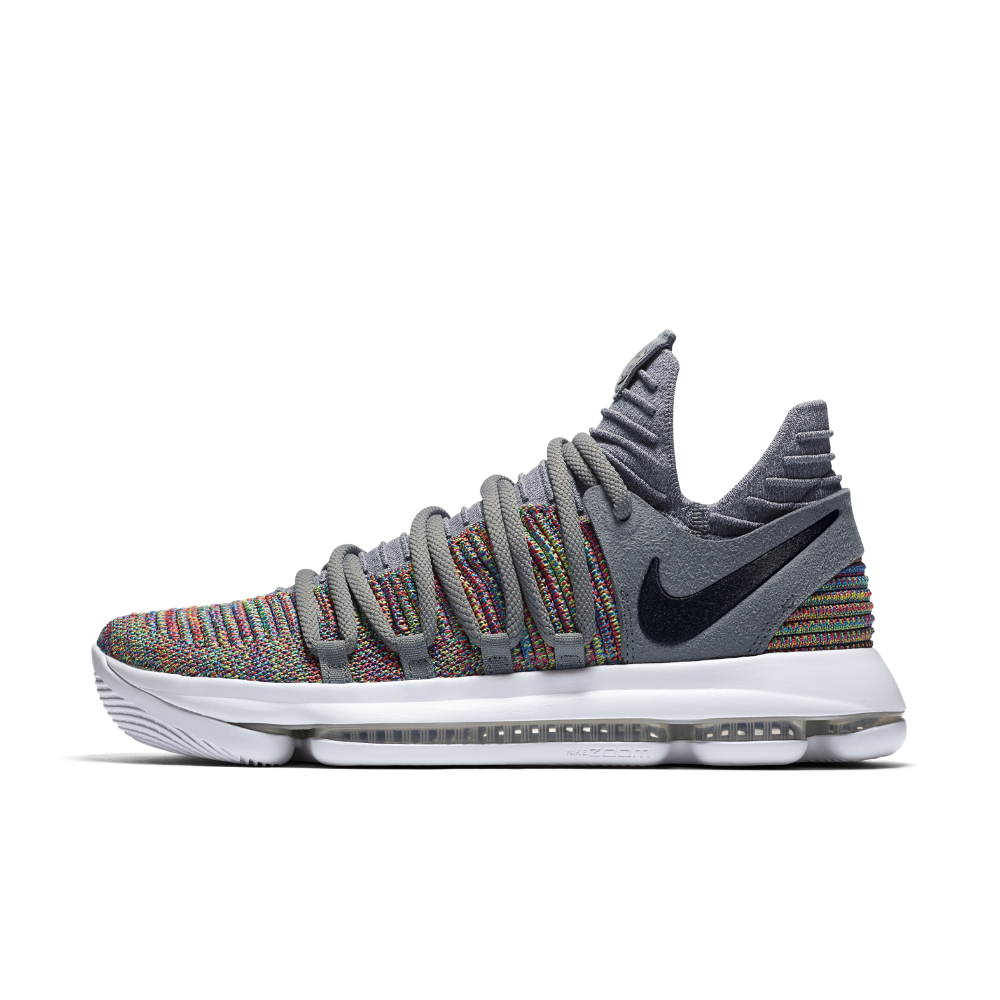 77d39fdede4e Nike Zoom KDX Basketball Shoe Size 10.5 (Grey)