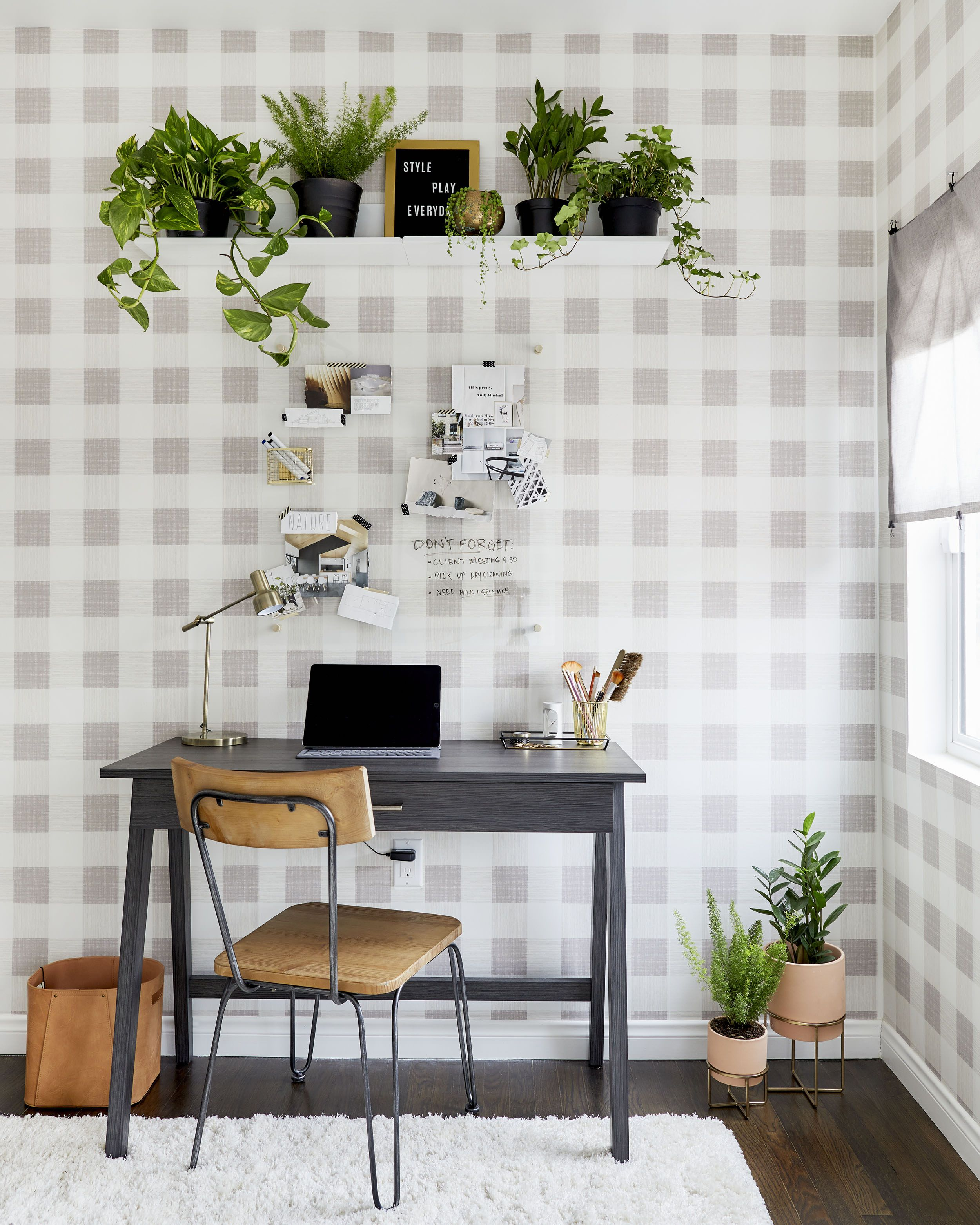A Home Office Makeover With Threshold Removable Wallpaper