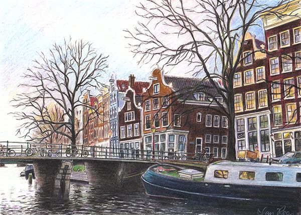 Winter in Amsterdam by reesmeister on DeviantArt