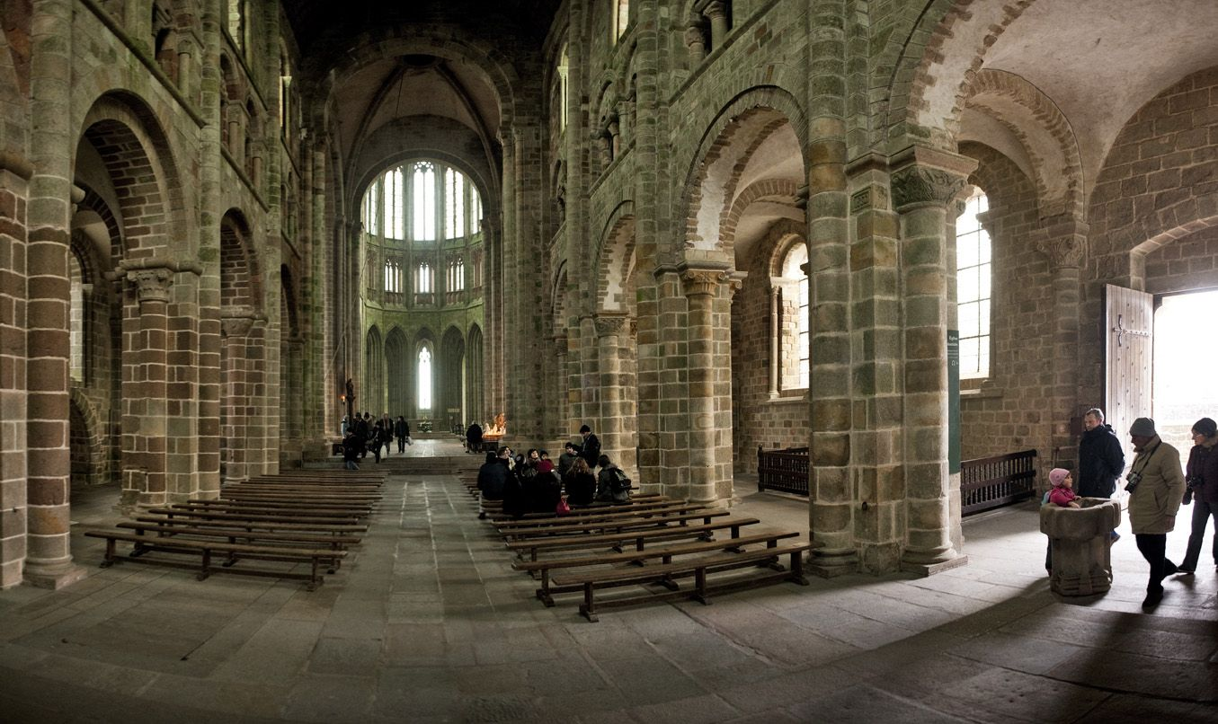 Inside Sanctuary Mont St Michel France Mont St Michael And