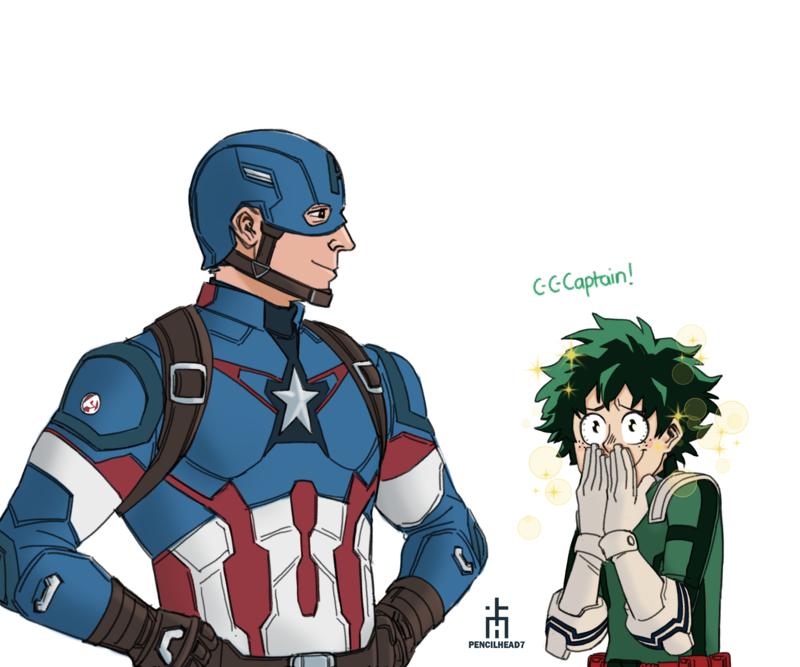 MCU x MHA by pencilHead7 Cartoon crossovers