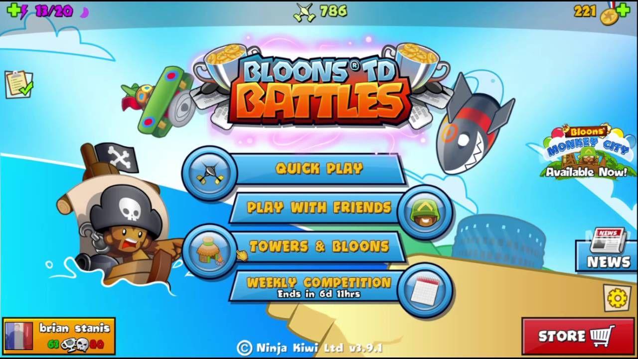 Bloon TD Battles First Video Bloons td battles, Battle