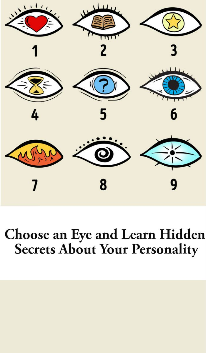 Choose anEye and Learn Hidden Secrets About Your Personality