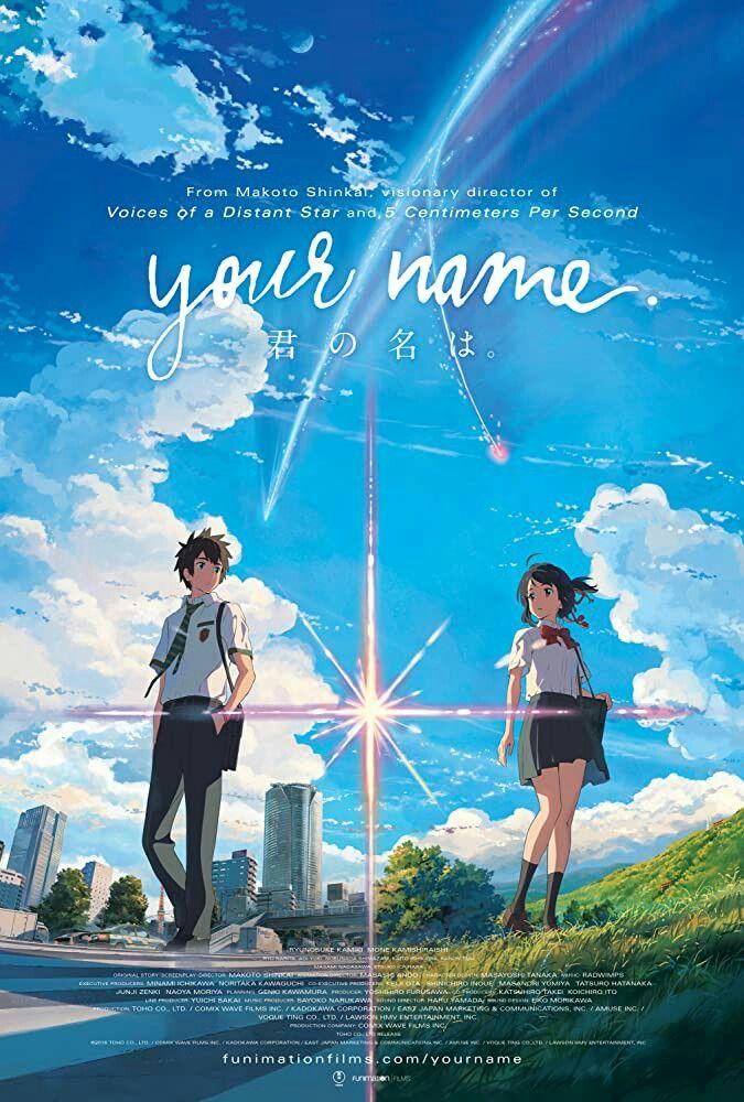 Kimi no na wa (Your Name) en 2020 Cartel, Carteles de