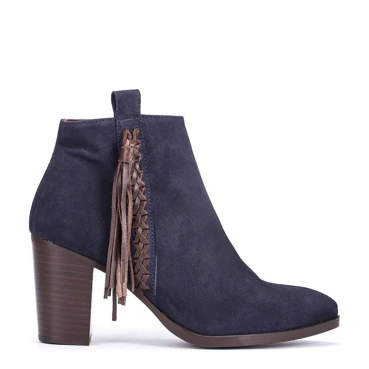 #zapatos #botín de la nueva colección #AW de #pedromiralles en color #azul #shoponline