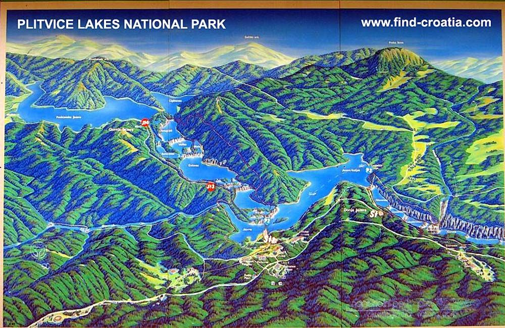 Plitvice Lakes Map Plitvice Lakes National Park Plitvice Lakes Plitvice National Park