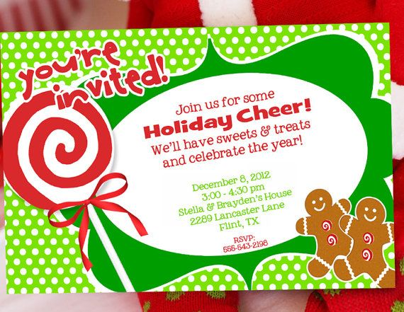 Possible Invitation for a  - free christmas invitations printable template