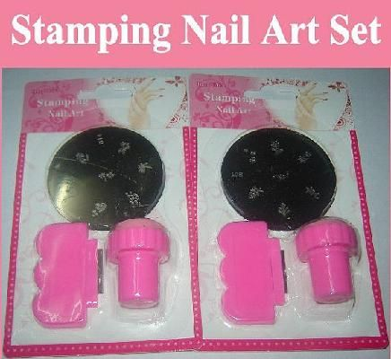 Nail Art Nail Stamping Image Plate Set - Plate + Stamper + Scraper for Manicure / Pedicure - set A