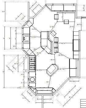 Awkward shape kitchen floor plans pinterest kitchen for Awkward shaped kitchen designs