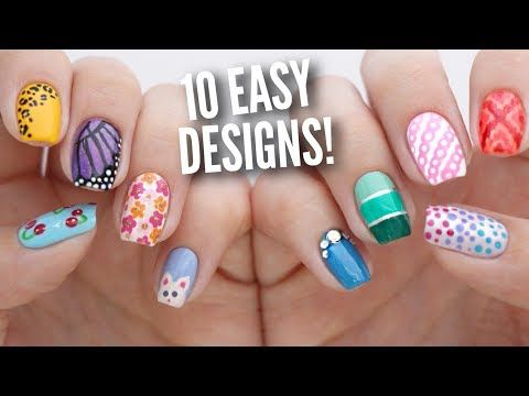10 Easy Nail Art Designs For Beginners The Ultimate Guide 5 Youtube Simple Nail Art Designs Nail Art For Beginners Nail Art Designs Diy