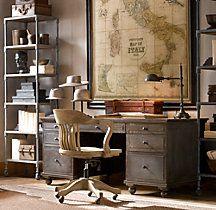 I like the map. Or a pinboard would be nice here. One wall would be a pinboard, another would be a blackboard calendar!