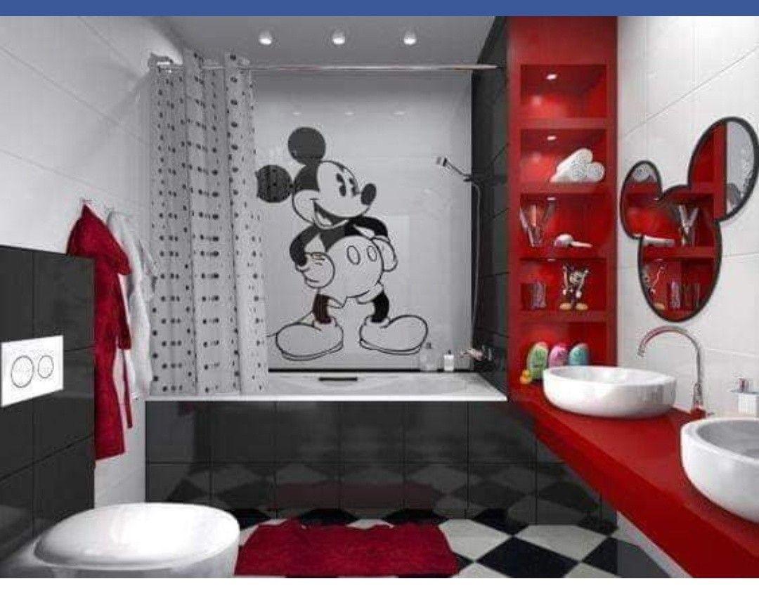 Pin By Selena Viviani On Screenshot Mickey Mouse Bathroom Kid Bathroom Decor Disney Room Decor