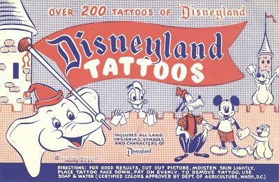 Vintage Disneyland Tickets: Souvenir Saturday - Disneyland Tattoos