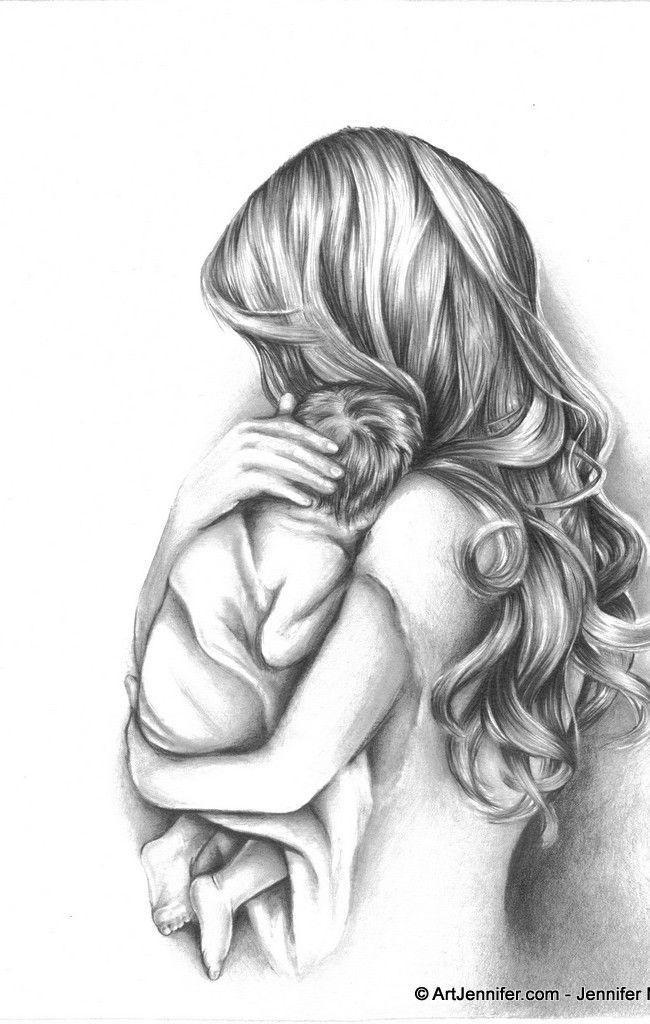 Mother Angel Holding Child Tattoo Design Photo 2 Tattoo Ideas