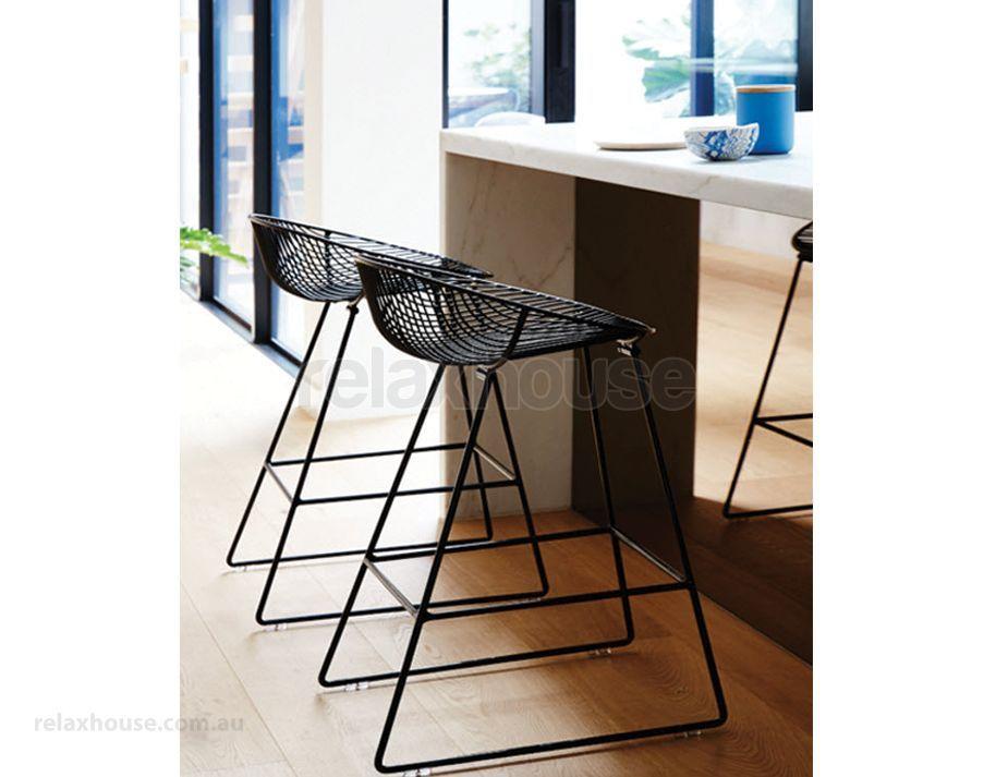 Designer Black Wire Mesh Kitchen Stool Kitchen Stools White Kitchen Stools Black Counter Stools