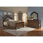 Our Marquis Burl 5 Pc Queen Sleigh Bedroom Package Offers
