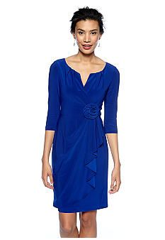 78b9877dc34 Adrianna Papell Three-Quarter Sleeve Faux Wrap Dress - Belk.com. Find this  Pin and more on mother of bride ...