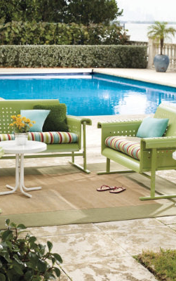 Retro Outdoor Furniture Collection. Love The Simple Classic Pool In  Background Too.