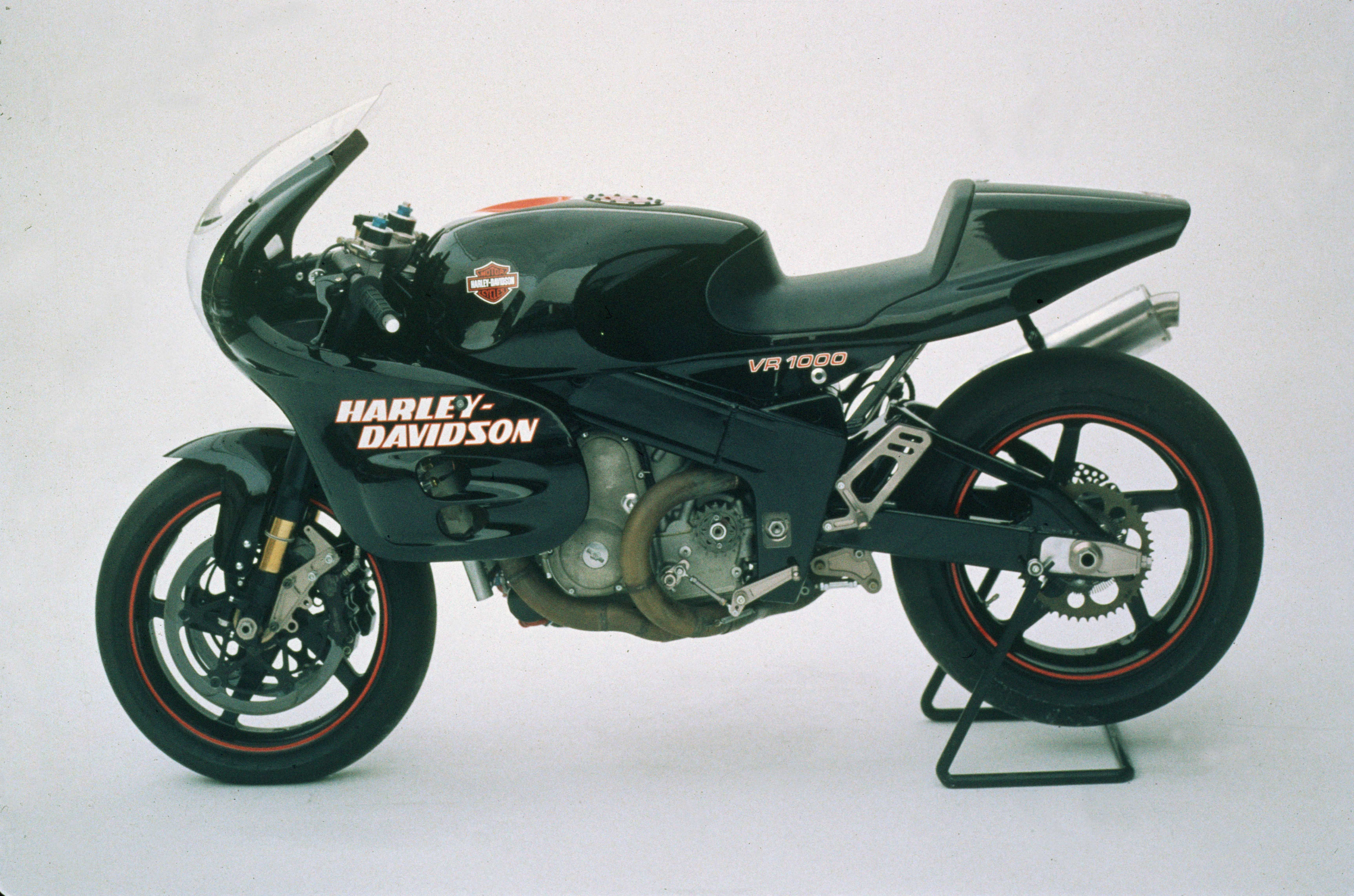 This dual overcam, liquid cooled motorcycle signaled