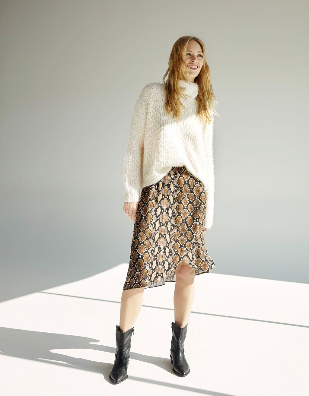 647fd141045b Snake print skirt in 2019 | Fashion | Printed skirts, Animal print ...