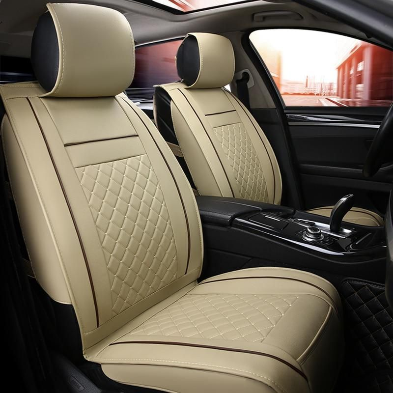 Front Rear Luxury Leather Car Seat Cover 4 Season For Toyota Rav4 2017 2013 Ch R 2017 2016 Corolla E120 E130 Car St Leather Car Seat Covers Car Seats Car