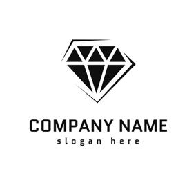 Black And White Diamond Logo Design Jewelry Logo Jewelry Logo Design Diamond Logo
