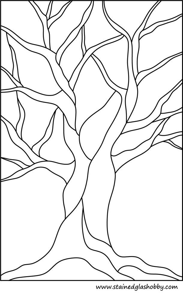 Free Printable Stained Glass Pattern Good For Family Tree Applique