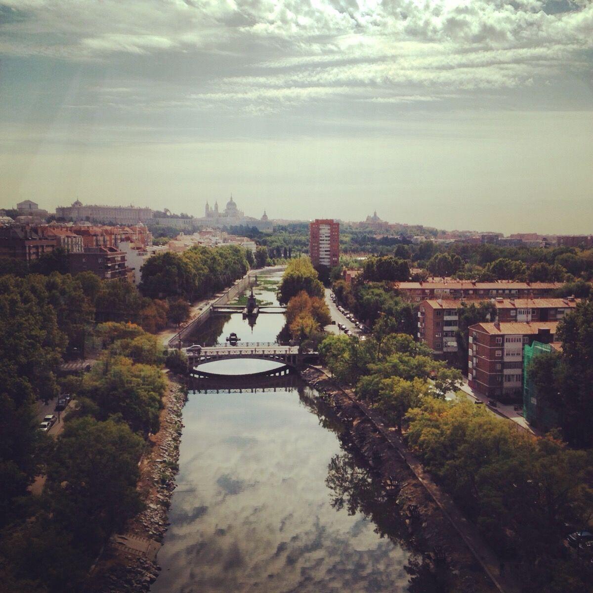 Madrid - casa del campo - vista del teleferico
