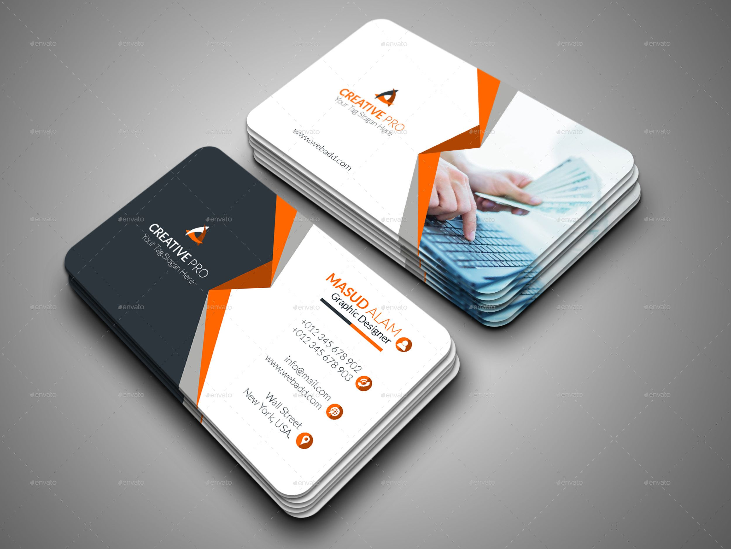 Business Card Bundle 2 In 1 Modern Business Cards Buy Business Cards Business Card Design