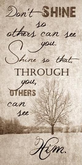 Let Your Light So Shine Before Men That They May See Your Good