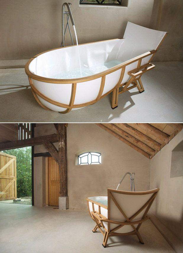 Comfortable bath tub inspired by arm chair / Studio Thol | Bath ...
