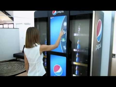 Pepsi Interactive Vending Machine if I was behind her waiting to get a pepsi I would probably have to kill her - just get your drink already.