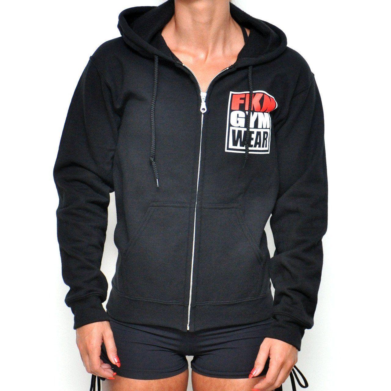 193f42a5 FKN Gym Wear Long Sleeve Zip Up Hoodie | Zip Up Hoodies | Gym wear ...
