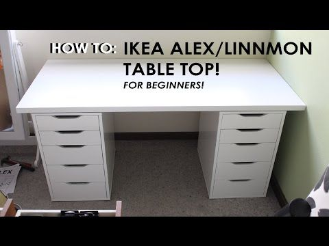 how to set up ikea alex/linnmon drawers  for beginners