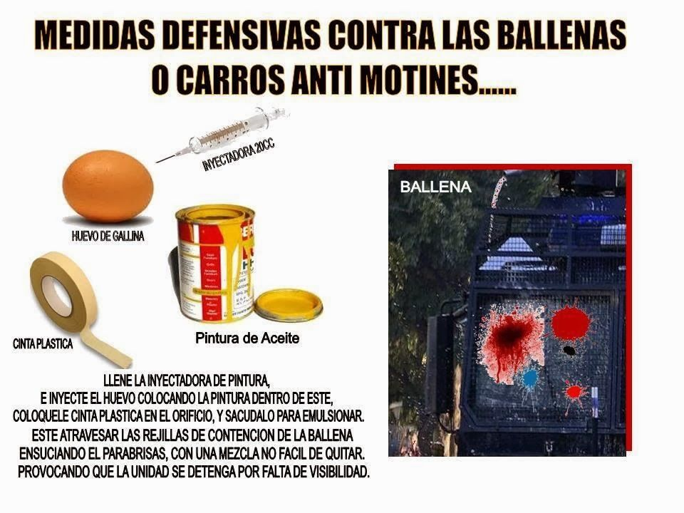 Defensa contra ballenas o carros anti motines