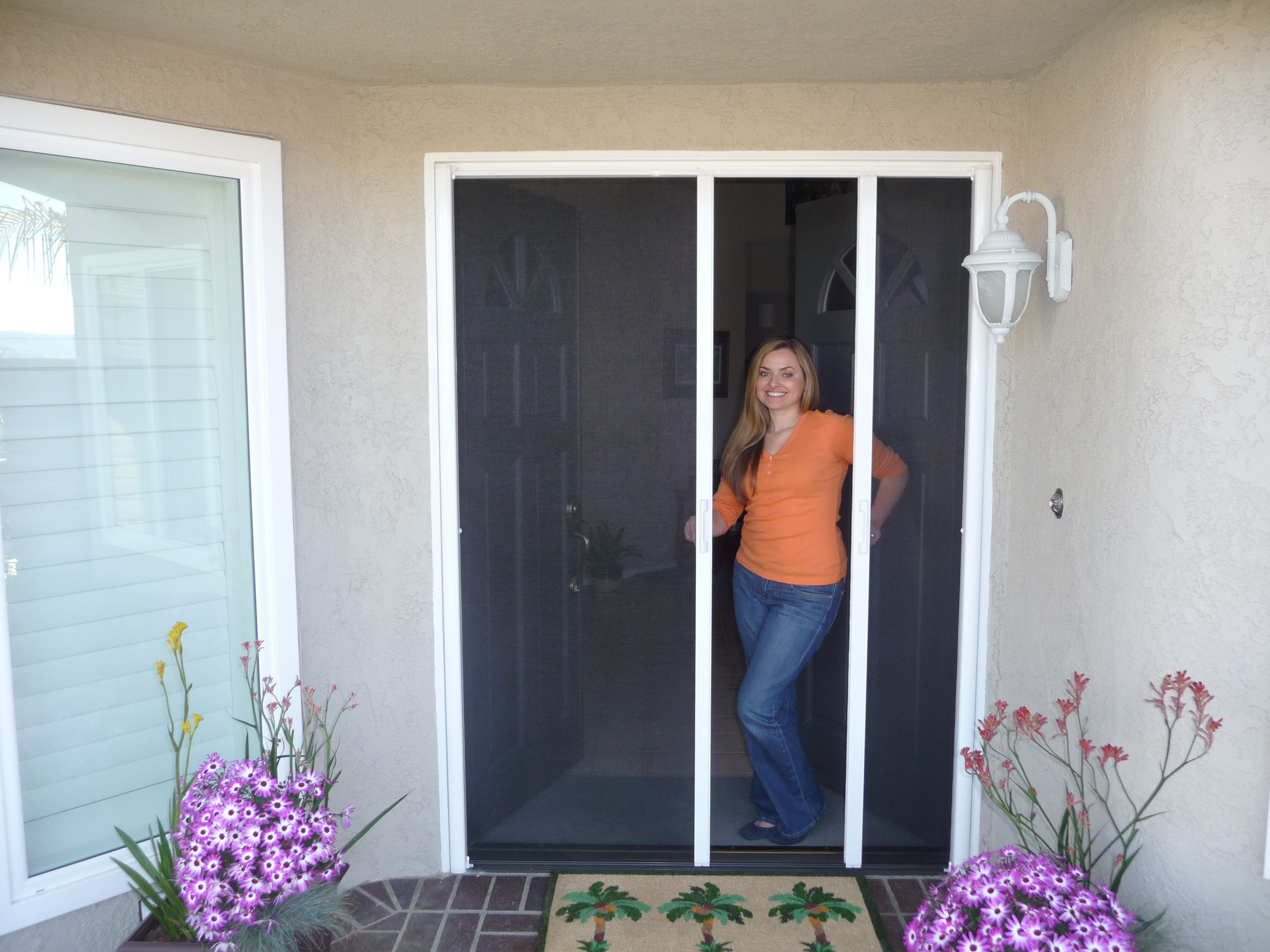 exterior french doors with screens. Classic Improvement Products Installs Closet Doors, StowAway Retractable Screen Interior And Exterior Shutters In Orange County Los Angeles. French Doors With Screens