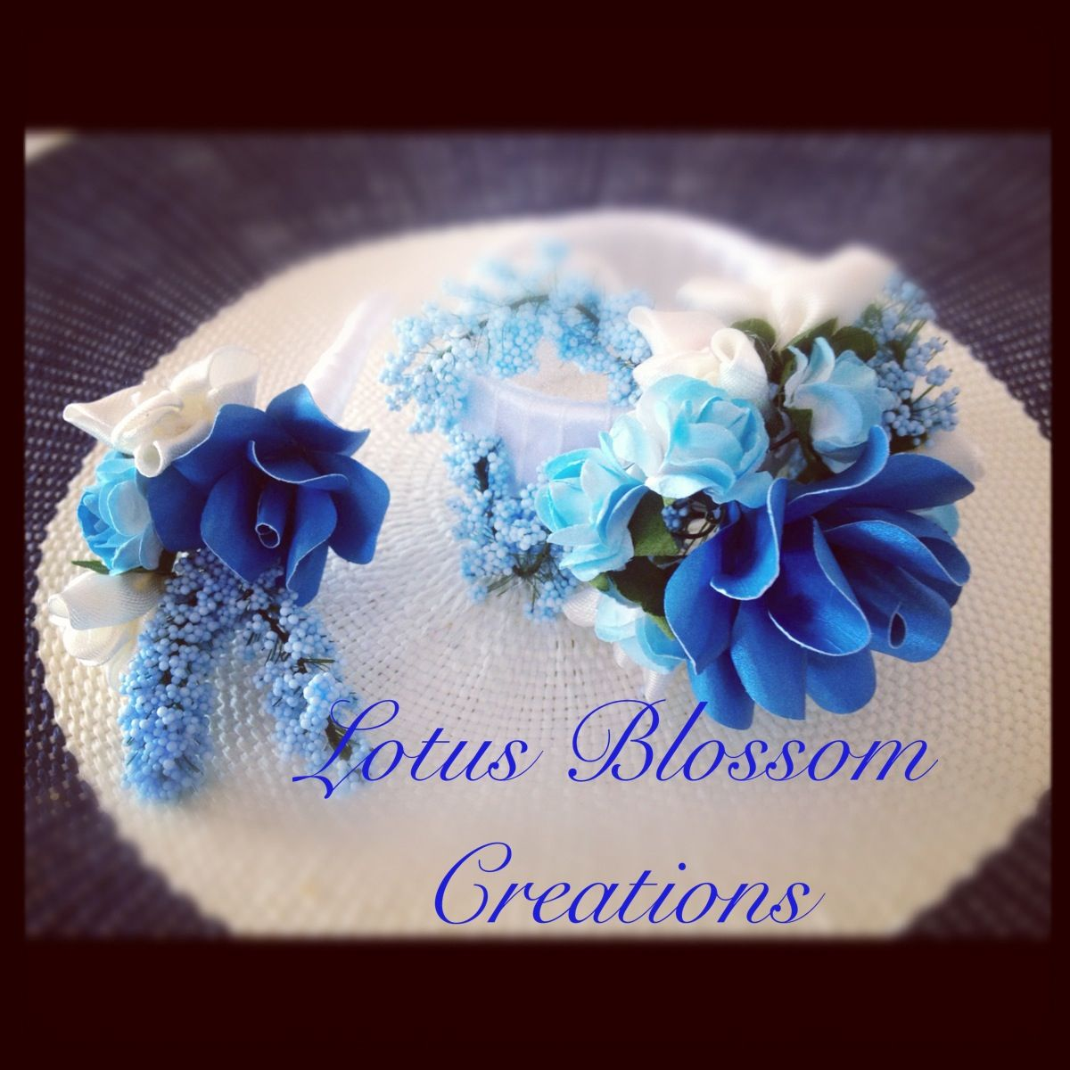 Handmade Paper Corsage And Buttonhole Lotus Blossom Creations