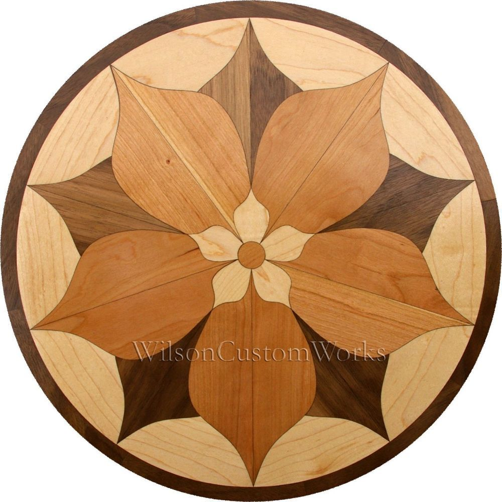 30 wood floor medallion inlay 44 piece spring flower kit diy it consists of 44 laser cut pieces all cut from walnut maple and cherry thick solid hardwood this is a do it yourself kit solutioingenieria Image collections