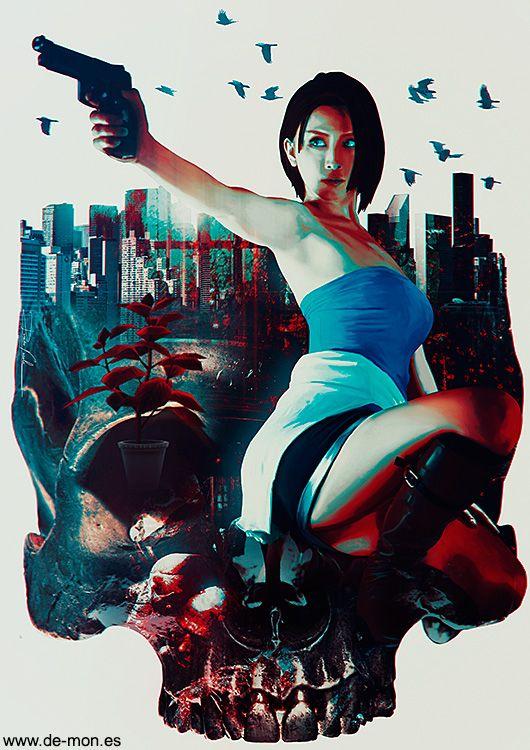 jill valentine resident evil 3 fan art
