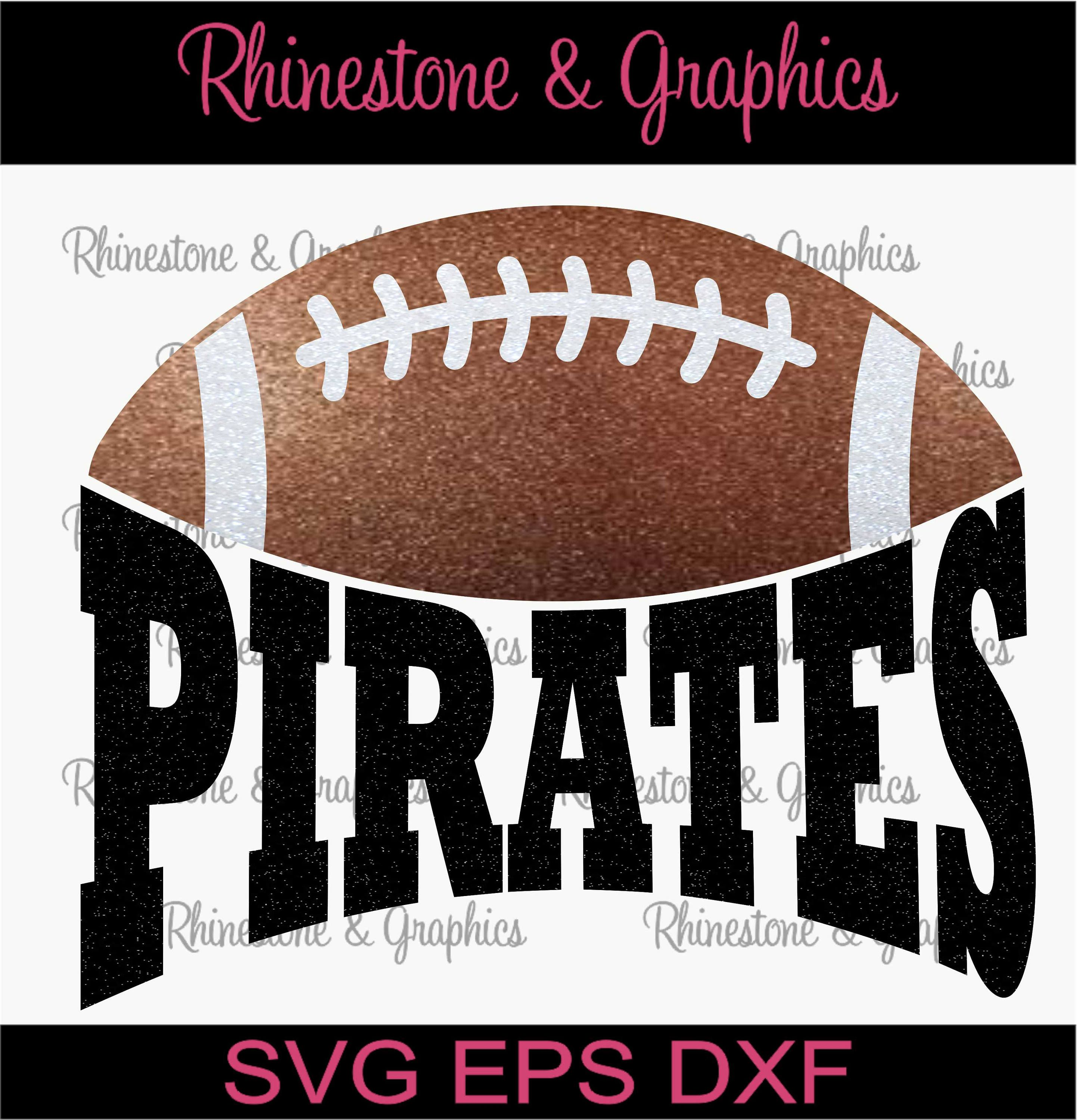 eefe04d1de0dc Pirates Football Design Pattern Graphic Design Instant Download EPS SVG DXF  Cutting Files Cameo by RhinestoneandGraphic on Etsy