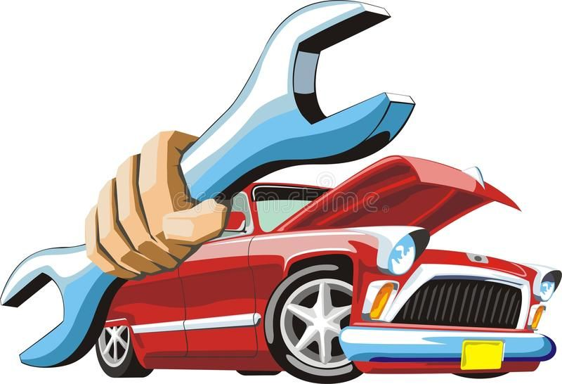 Car Repair Old Cartoon Car Keep Wrench In Hand Affiliate