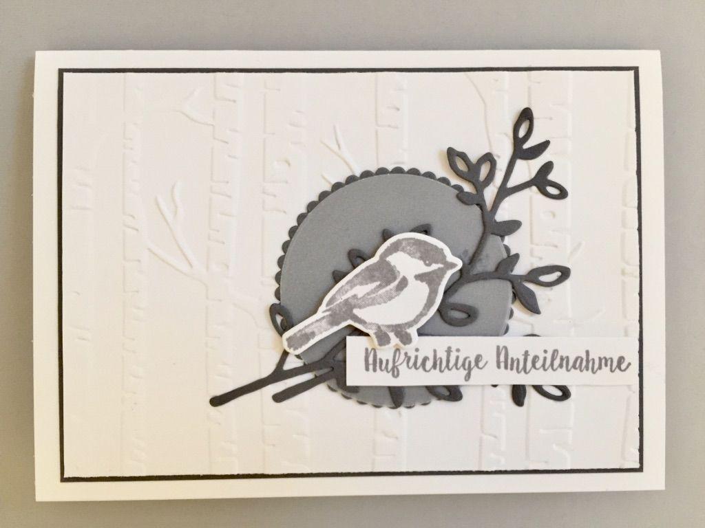 Stempeln Macht Glucklich Stampin Up Fruhjahrsommerkatalog 2018 Trauerkarte Trauer Blutentraum Vogel Trauerkarte Beileidskarten Beileid Karte